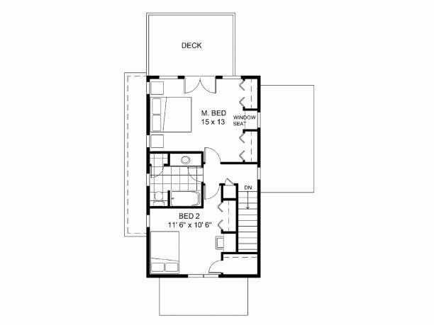 Plano de casa de dos pisos con estilo colonial for Planos de casas de dos pisos gratis