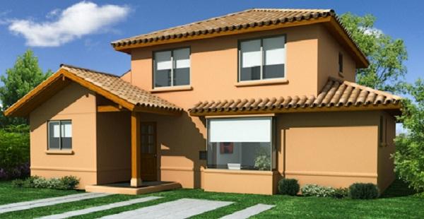 Plano preciosa casa de dos pisos de 137 m2 for Fachada de casas modernas con tejas