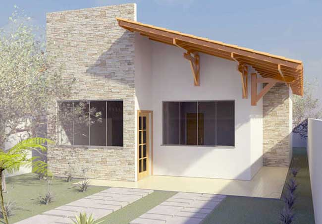 Planos de casas para terreno angosto de 70m2 for Fachadas de casas bonitas y economicas