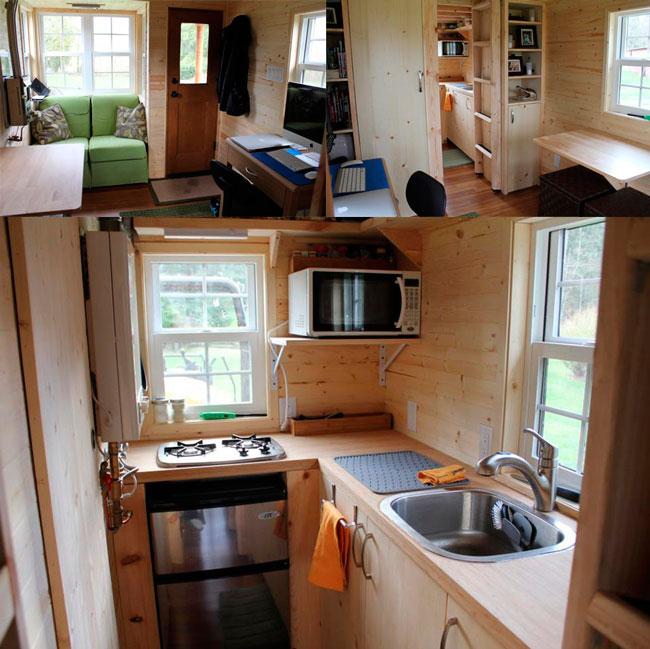 Dise o de casa rodante de madera - Interiores casas de madera ...