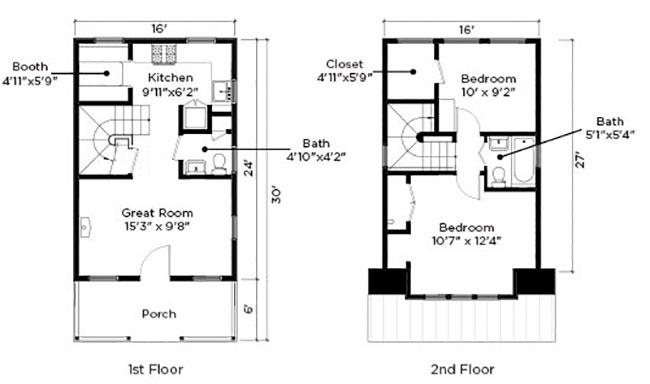 Casa chica con 5 metros de frente para sitio angosto for Diseno de casa de 5 x 10