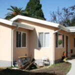 Planos de casa de 1 piso y 2 dormitorios con 56.7 m2