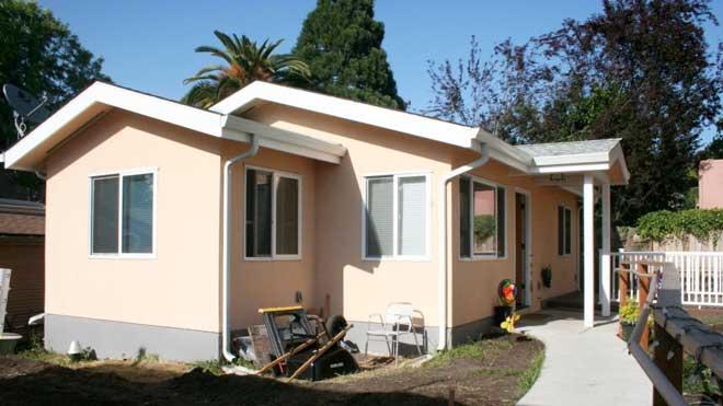Planos de casa de 1 piso y 2 dormitorios con 56 7 m2 Ver fachadas de casas