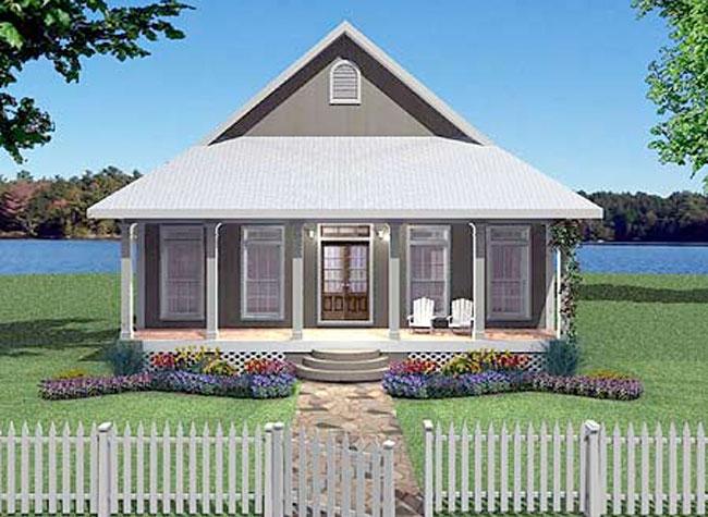 Plano de casa de 1 piso con 2 dormitorios for Diseno de casa de 120 metros cuadrados