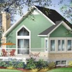 Plano de casa estilo contemporánea de 64 m2