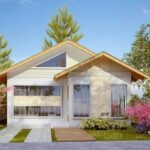 Plano de Casa de un nivel con tres dormitorios (70 m2)