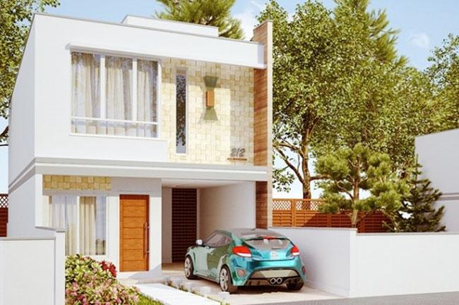 Planos de casa de 2 pisos y 3 dormitorios bastante lujoso for Disenos de casas 10x20