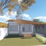 Plano de casa para sitio de 10×30 metros con 3 dormitorios