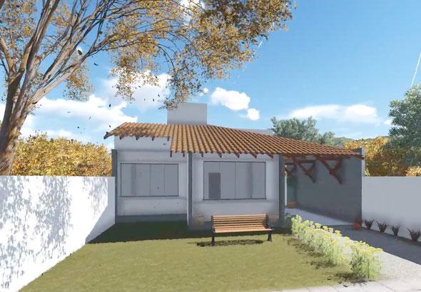 Plano de casa para sitio de 10x30 metros con 3 dormitorios - Casa con terreno ...