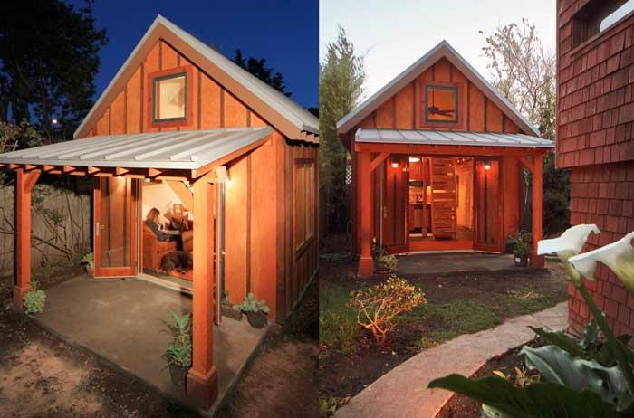 Dise o de casa peque a de piso y medio con - Fachadas de casas pequenas de un piso ...