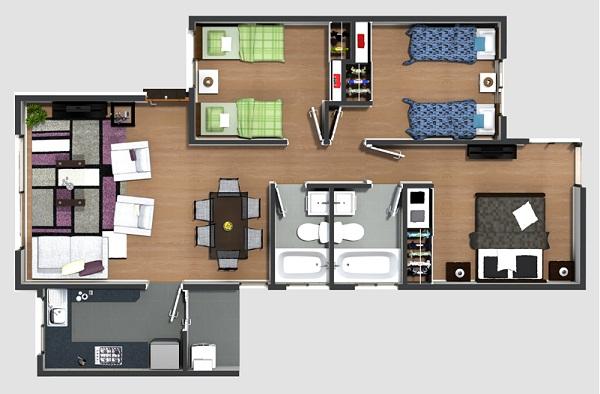 planos de casas 64m2