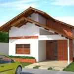 fachada casa 80 m2 plano