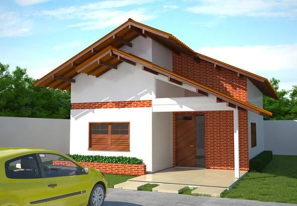 Lindo plano de casa de 80 m2 con 2 dormitorios for Casa moderna 80m2