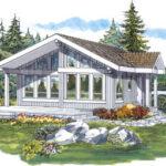 Plano de casa de 75m2 con 2 dormitorios