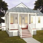 Plano de casa estilo colonial de 77m2