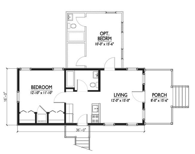 Plano de casa estilo colonial de 77m2 for Planos de casas estilo colonial