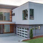 Moderno Plano de Casa de dos pisos con garaje