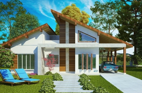 Plano de casa grande con 4 dormitorios y 131 62 m2 for Ver fachadas de casas