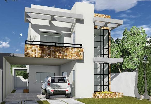 Plano De Casa Lujoso De 2 Pisos Y 237m2