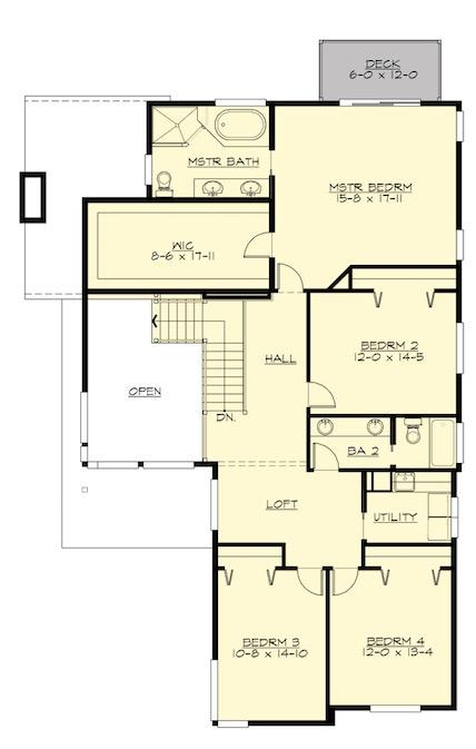 plano segundo piso con garaje