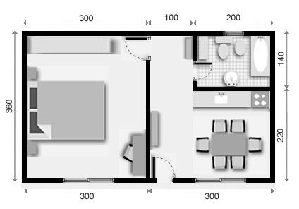 10 planos de casas de 1 2 y 3 dormitorios On planos de apartamentos de 1 habitacion