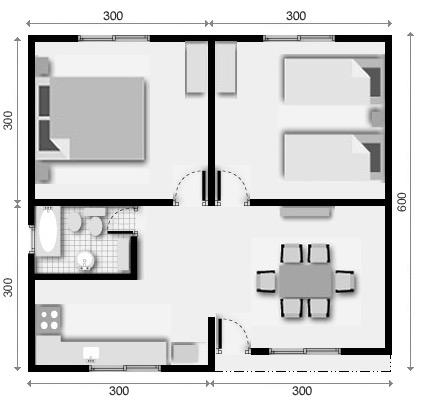 planos de casas un dormitorio