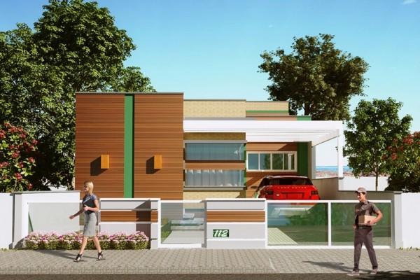 Plano de casa de 113 m2 con 3 dormitorios con un gran dise o for Fachadas de casas modernas de 120 metros cuadrados