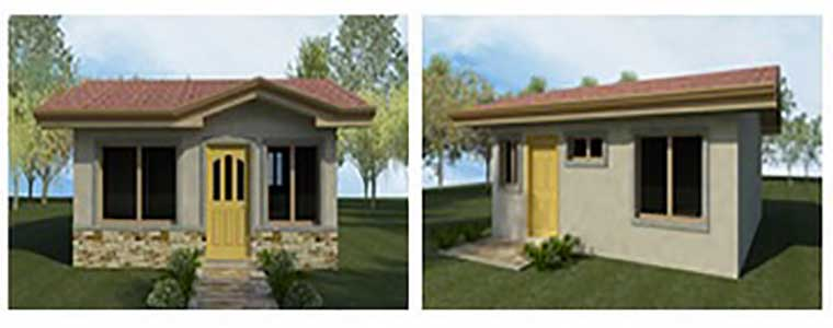 Peque o plano de casa con 2 dormitorios de 36m2 for Ver disenos de casas