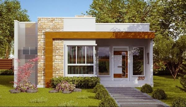 Sensacional plano de casa con 3 dormitorios y 70 m2 for Ver planos de casas de una planta