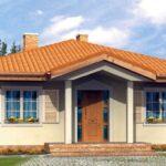Plano de casa de campo con 110 m2 y 2 dormitorios