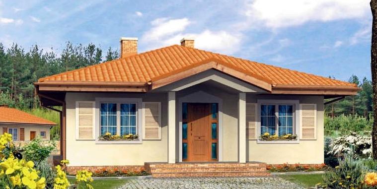 Plano de casa de campo con 110 m2 y 2 dormitorios - Fachadas casas de campo ...