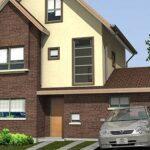 Plano de esplendida casa de 3 pisos de 140 m2