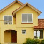 Plano de atractiva  casa de dos pisos 110 M2