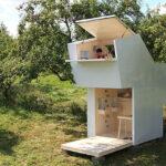 Plano de casa modular para salón o cabina multiuso