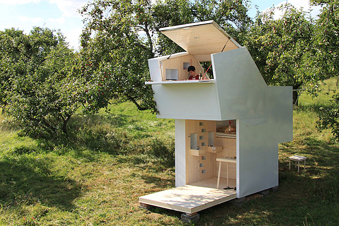 Plano de casa modular para sal n o cabina multiuso - Refugios de madera prefabricados ...