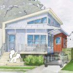 """Plano de casa ecológica en PDF diseñada por """"Billes Architecture"""""""