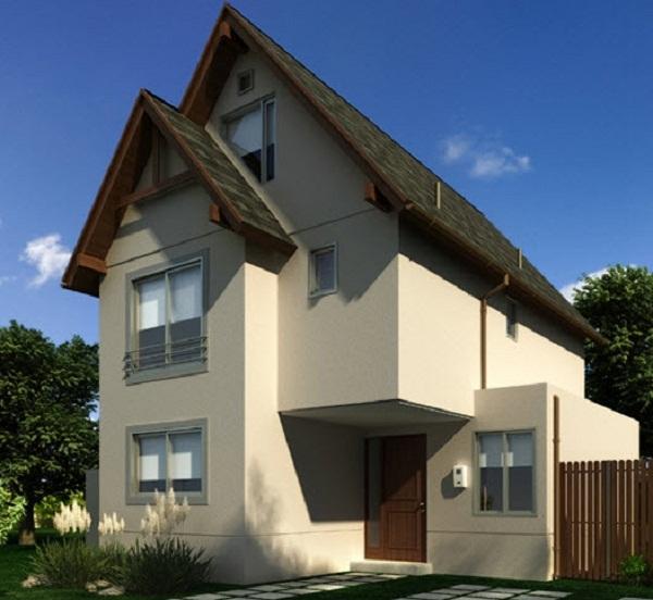 Plano de casa 3 pisos de 115 m2 for Planos de casas de 3 pisos