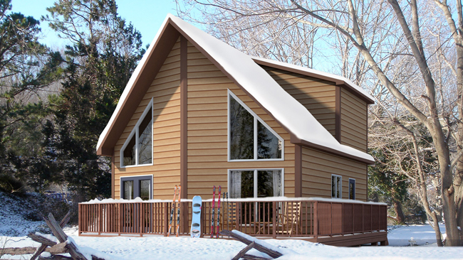 Casa de dos niveles con dos dormitorios especial para la for Casa en la montana