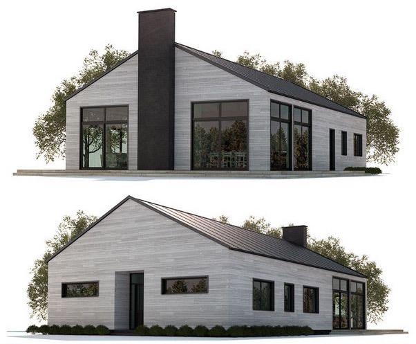 Plano de casa grande de 3 dormitorios muy confortable - Planos de casas grandes ...