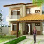 Plano de casa de 158m2, 3 dormitorios y 2 pisos