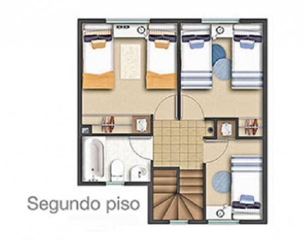 Planos de casa de 83 m2 4 dormitorios 3 ba os for Planos de banos gratis
