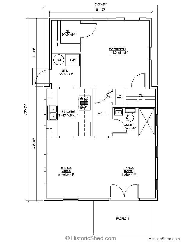 11 planos de caba as peque as de buen dise o for 16 x 32 cabin floor plans