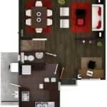 Plano de casa 3 pisos de 115 m2