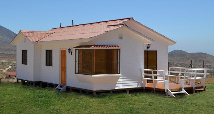 Plano de casa de 66 m2 con 3 dormitorios en madera - Casas prefabricadas diseno ...