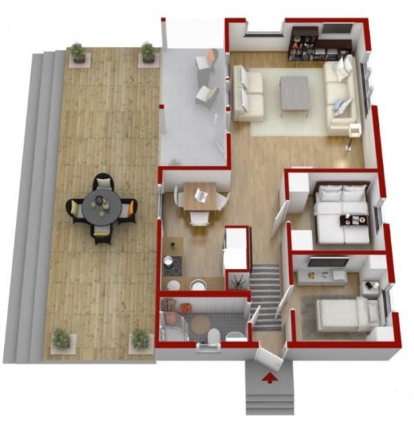 plano de casa 56 m2 madera 2 dormitorios 011