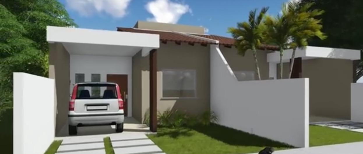 Plano de casa pareada con 83 7 m2 y 2 grandes y c modos for Decoracion casas 70m2