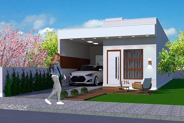Plano de casa 69m2 y 2 dormitorios terreno de 6x25 metros for Casa moderna jardin d el menzah
