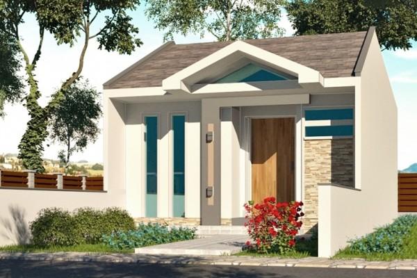 fachada plano de casa para sitio angosto