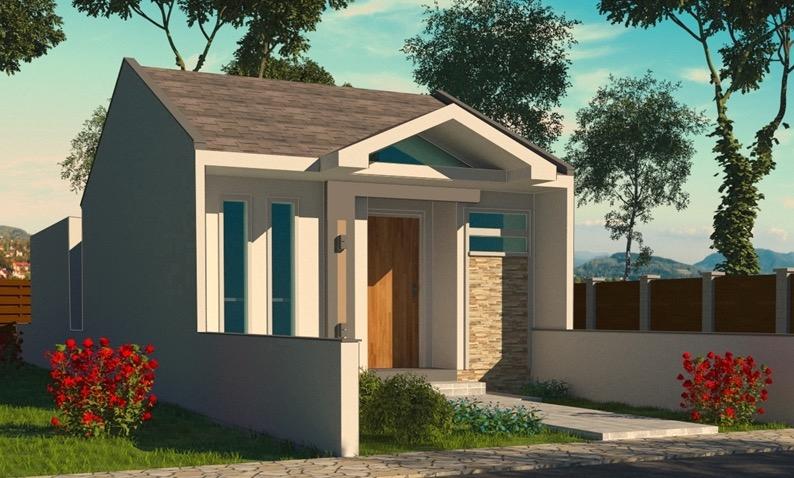 perspectiva de fachada plano de casa