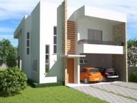 Fachada plano de casa 220 metros cuadrados